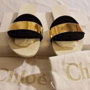 Chloe Embellished Neoprene Slides